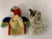 2 Steiff puppets