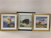 Lot of three limited edition Disney Sericels