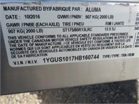 "(DMV) 2017 Aluma Aluminum 56""x 10' Tilt Trailer"