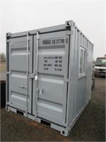 9' Storage Container w/ Side Access Door & Window