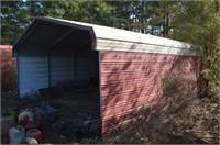 Metal Garage Building w/ Back