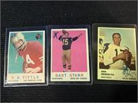 (7) 50's Topps Quarterback Football Cards