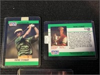 (2) 1990 NFL Pro Set Payne Stewart Golf Cards