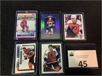 (5) Eric Lindross Hockey Cards
