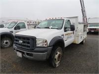 (DMV) 2006 Ford F-550 12' Utility Truck