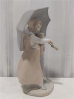 Zaphir porcelain figurine children with umbrella