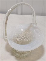 Opalescent Pattern glass basket