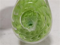 Joe Rice Art Glass Dove Bird in Green
