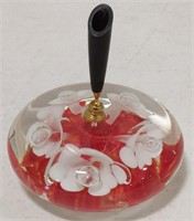 St. Clair Pen Holder Paper Weight-Red Poppy
