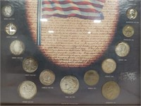 "U.S. Coin Set in Frame.  14.5"" by 18.5"""