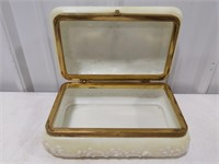 "Wave Crest Dresser Box 1920's 4.5"" tall by 9.5"""