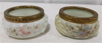 Pair of Wave Crest Hand Painted Trinket Dishes