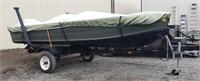 1974 14' Starcraft  V-Bottom Aluminum John Boat