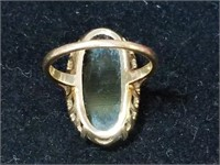 10 Kt Gold Black Onyx ring