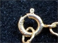"""14kt Gold Mother of Pearl Pendant & 18"""" Chain"""
