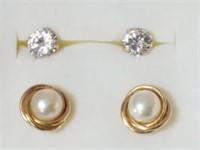 (2) 14kt Earrings