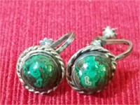 Pair of Mexican Silver Earrings