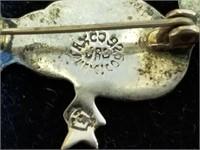 Sterling Earrings & Pin Lot