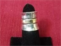 14kt Gold/Sterling Ring & 4 Sterling Rings