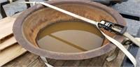 Cast Iron Pot 50 Gallon Rare