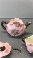 China tea pot Creamer & Sugar Handmade