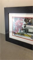 Framed Red Wings Game Photo
