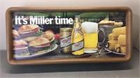 Vintage Miller Beer Sign Plastic