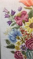 Embroidered Framed flower Arrangement