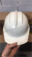 Box of Old Plastic Hard Hats