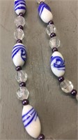 Beaded Necklace W/ Clip on Earings