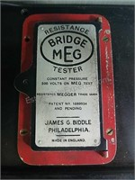 Bridge MEG Resistance Tester with Case untested
