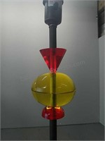 Retro Style Lamp Metal Base with Red and Yellow