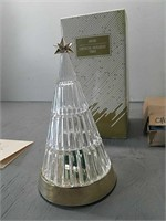 Avon Crystal Holiday Tree w/ Lighted Base,