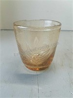 Set of Four Etched Glasses with Basket