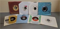 Lot of (8) Various 45RPM Records