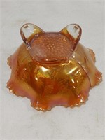 Fenton Stag & Holly Carnival Glass Bowl