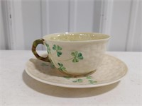 Lot of vintage Belleek tea set items