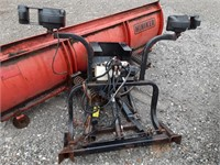 Hinker adjustable snow plow with mounting 7ft6in