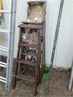 Wooden A Frame ladder. One 5ft, two 4ft