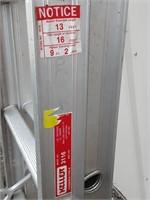 Keller 16ft aluminum extension ladder
