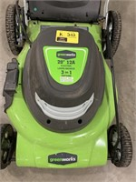 Greenworks 20inch cut 12A electric lawnmower with
