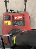 Toro 3.25hp 16inch gas powered snow blower
