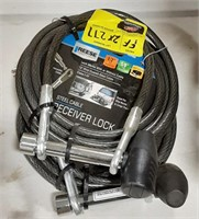 Reese 1/2 steel cable with lock.