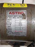 Astro heavy duty bench grinder. 1/2 horsepower,