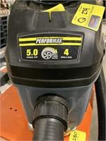 Performax 5hp dual turbo shop vac.