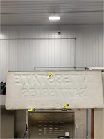 Tin interstate batteries sign 5ft long by 2ft