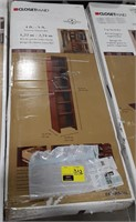 Closet maid 4ft-9ft narrow closet kit. Dark