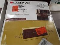 Closet maid drawer kit. Dark cherry finish