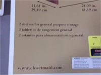 "Closet maid 24"" horizontal stackable organizer."