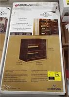 Closet maid 3 shelf organizer. Dark cherry finish